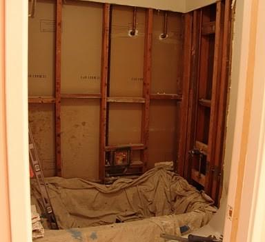 Alameda Bathroom Remodel (during)